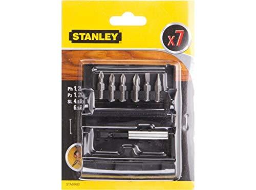 Stanley STA60480-XJ Juego de puntas para atornillar de 7 piezas