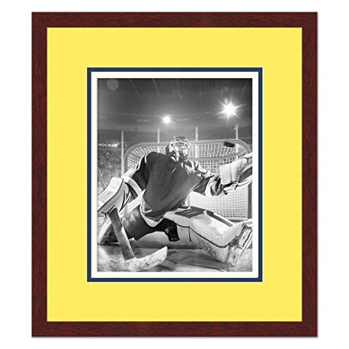 Sports Frames Nashville Predators Brown Wood Picture Frame with Predators Triple Mat Made to Display 16