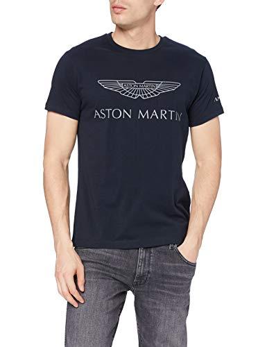 Hackett London AMR Logo tee Camiseta, Azul Marino, M para Hombre