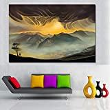 NIMCG Impresión en la Pared sobre Lienzo para Sala de Estar Decoración para el hogar Carteles e Impresiones Arte de la Pared Pintura en Lienzo Montañas Paisaje Pintura (Sin Marco) 70x100cm