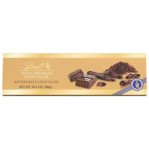 Lindt Swiss Bittersweet Chocolate Bar, 10.6-Ounces Packages (Pack of 4)