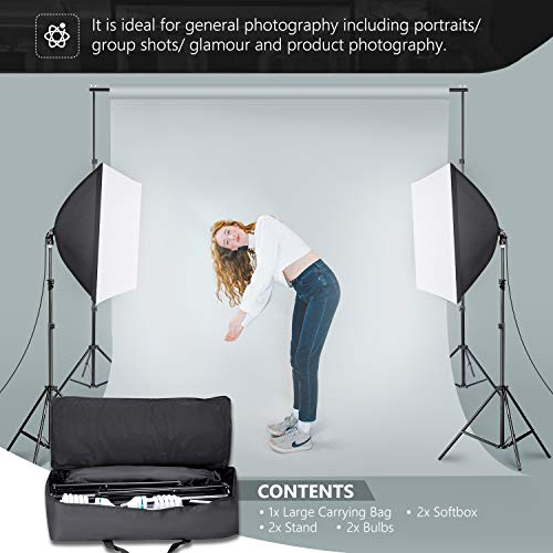 "Neewer® 700W Professional Photography 24""x24""/60x60cm Softbox with E27 Socket Light Lighting Kit for Photo Studio Portraits, Product Photography and Video Shooting"