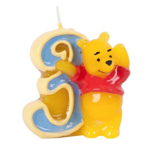 Candelina Winnie the Pooh e amici numero 3