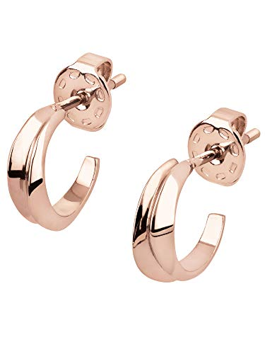 BREIL JEWEL Ladys' JOIN UP collection, IP COLOURED STAINLESS STEEL EARRINGS UNIQUE, ROSE GOLD color with NO STONES - TJ2930