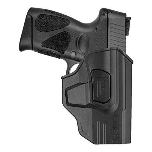 Taurus G2C & Millennium G2 Holster, OWB Holster for Taurus G2 PT111 PT132 PT138 PT140 PT145 PT745(No Pro), Polymer Tactical Outside The Waistband Carry Belt Holster with 360° Adjustable -Right Hand