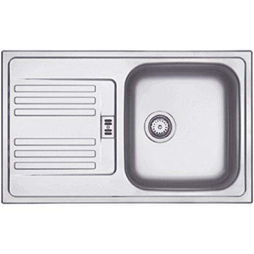 Franke EFL 614 – 78 Euroform Edelstahl Küchenspüle Spültisch Spülbecken Einbauspüle mit 1 Becken und Abtropffläche Textur Leinen,