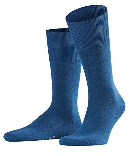 FALKE Herren Socken Airport - Merinowoll-/Baumwollmischung, 1 Paar, Blau (night sky 6504), 39-40