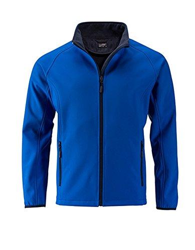 Men`s Promo Softshell Jacke Herrenjacke atmungsaktiv winddicht Herren Übergangsjacke, Größe:L, Farbe:Nauticblue-Navy