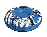 H2OGO! Snow 39055E Polar Edge Covered Inflatable Snow Tube, Blue, White