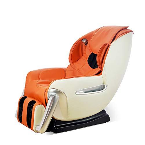 YS-S002 Poltrona da Massaggio, Poltrona a gravità Zero Automatica Multifunzione 4D massaggiatrice/Massaggio a Mano con Simulazione/con Altoparlante Bluetooth,Orange