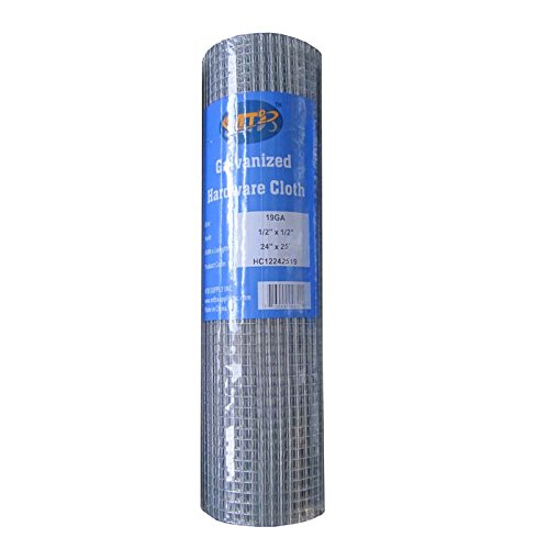 MTB Galvanized Hardware Cloth 24 Inch x 25 Foot -1/2 Inch x 1/2 Inch 19GA