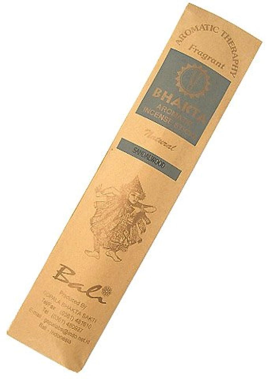 エロチック価格ドライお香 BHAKTA ナチュラル スティック 香(サンダルウッド)ロングタイプ インセンス[アロマセラピー 癒し リラックス 雰囲気作り]インドネシア?バリ島のお香