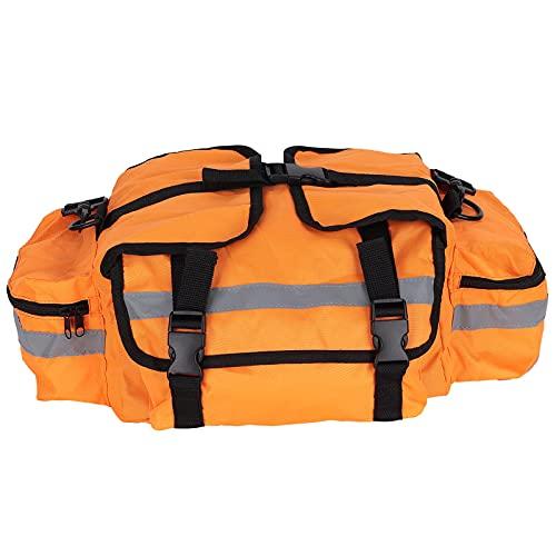 FOLOSAFENAR Kit de Emergencia Naranja, Correa de Hombro Ajustable Bolsa de atención de Emergencia Ajustable con Tiras Reflectantes para Autocaravana, océano, Deportes, hogar u Oficina
