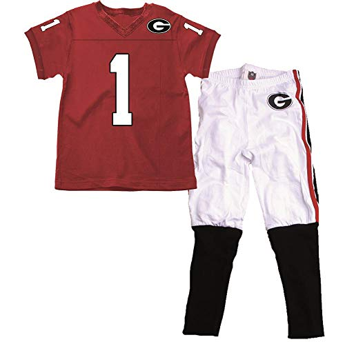 Wes and Willy Infant/Toddler Georgia Bulldogs UGA Pajamas SS Football PJs (2T)