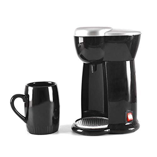 CHENG Filterkaffeemaschinen, Elektrische Mini-Kaffeemaschine Einzel Cup Haushalt Kleine Tropf Eine Maschine Start Kaffeevollautomat