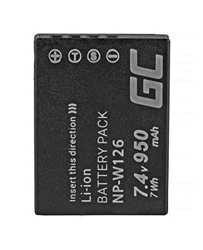 Green Cell® Batteria NP-W126 NP-W126S per Fujifilm FinePix HS30EXR HS35EXR HS50EXR X-A1 X-A2 X-E1 X-E2 X-H1 X-M1 X-T1 X-T2 X-T20 X-T100 X-Pro1 X-Pro2 Fotocamera (950mAh 7.4V)