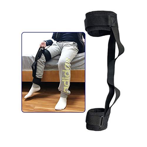 Beinheber Gurt Oberschenkelheber Bein Gurt Fuß beinen für ältere Menschen Behinderung Füße Riemen mit Handgriff Knöchelheber Schlaufen Mobilitätshilfen Zubehör für Rollstuhl, bett, Auto