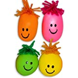 Neon Smile Face Stress Balls with...