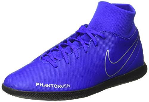 Nike Phantom VSN Club DF IC, Zapatillas de fútbol Sala Unisex Adulto, Multicolor (Racer Blue/Black/Metallic Silver/Volt 400), 46 EU