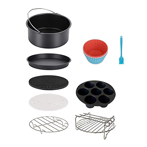 Kaxofang Air Fryer Accessories for Phillips Nuwave Gowise Gourmia Ninja Dash Air Fryer, Fit All 3.2-4.0-5.8QT