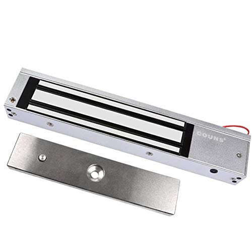 COUNS Single Door 12V 600lbs Electric Magnetic Electromagnetic Lock Holding Force for Access Control