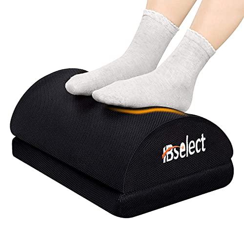 HBselect Füßauflage aus druckausgleichendem Memory Foam und Netzstruktur Fußkissen Fußstütze Fußablage Ergonomisches Fußstützenkissen mit Antrutschbeschichtung 43 x 29 x 10 (+6) cm