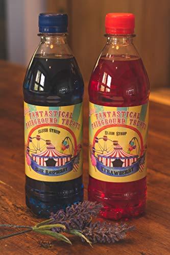 Doppelpack von 500ml Blaue Himbeere und Erdbeeren Slush welpe Stil Konzentriert Sirupe