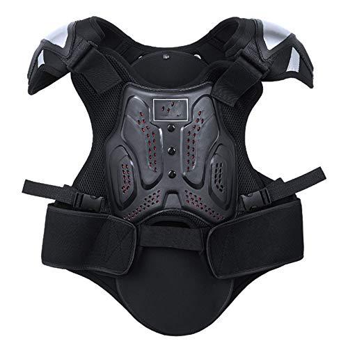 Massage-AED Armadura Motocross,Chaqueta Protectora de Armadura Cruzada para Motocicleta Protector de Espalda y Pecho para esquí en Motocicleta