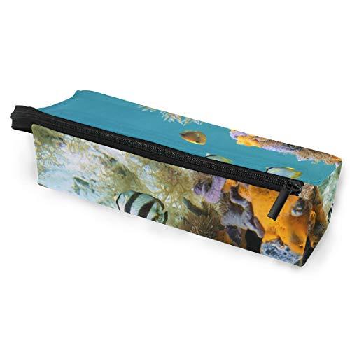 Potloodzakje zonnebril onderwaterleven Duster Worm kleurrijke sponzen vis cosmetica studenten briefpapier zak ritssluiting voor meisjes