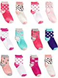 Simple Joys by Carter's Girls' Toddler 12-Pack Sock Crew, Cats, 4T/5T