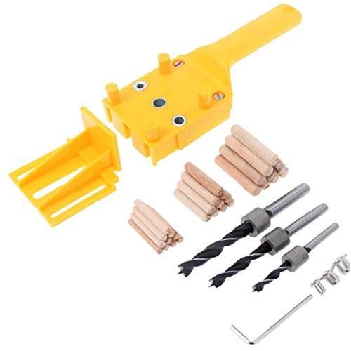 linjunddd Hand Dowel Jig Kit Mit Holzspannstifte Bohrer Holzbearbeitung Joiner Industrial Tools