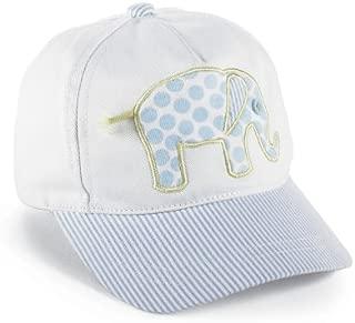 Mud Pie Baby Little Prince Seersucker Baseball Hat, Elephant