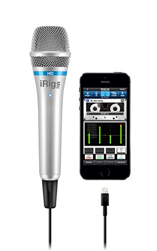 IK Multimedia iRig Mic HD high-definition handheld microphone for iPhone, iPad and Mac (silver)