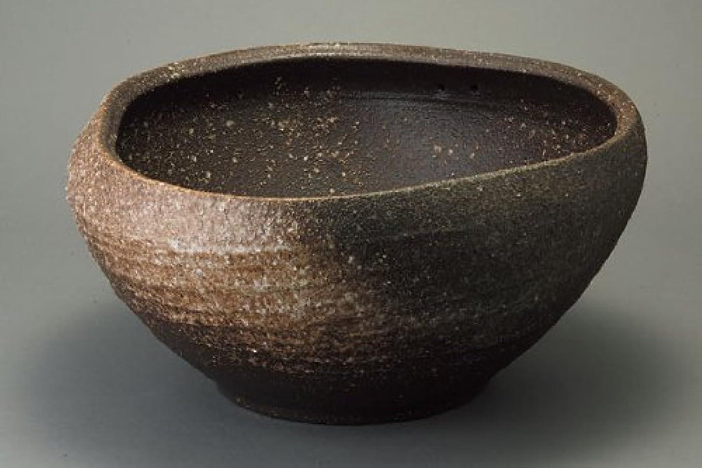 サーバ銅水っぽい窯変めだか鉢 小 信楽焼 睡蓮鉢 めだか鉢 水鉢 陶器