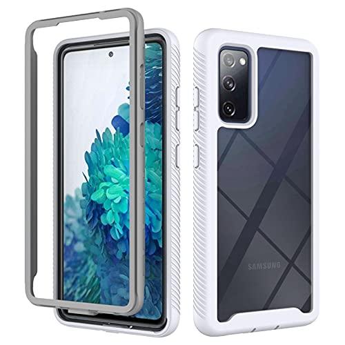 Flyuzi Protección Completa Funda telefónica de acrílico para Samsung Galaxy S20 Fe S21 S10 Nota 10 20 A21S A31 A02 A51 A71 5G A22 A12 A32 A52 A72 (Color : White, Material : A52 4G)