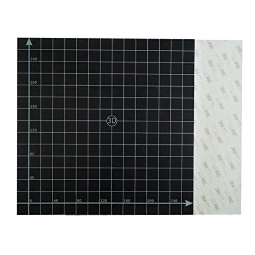Yongse 300 x 300 mm zwart vierkant oppervlak voor bed, warm, platform, zelfklevend met 1:1