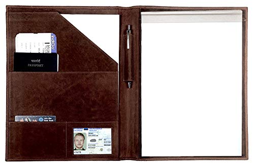 Leather Padfolio Resume Portfolio Folder – Interview/Legal Document...