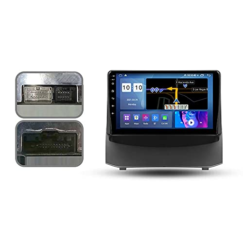 Android 10.0 Car Stereo Double DIN Radio para F-ORD Fiesta MK 6 2008-2019 Navegación GPS Reproductor Multimedia de 9 '' Receptor de Video Bluetooth con 4G / 5G WiFi SWC DSP USB Carplay