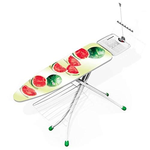 Ironing Boards Balcón CDingQ ligero y moderno, tamaño grande de metal alargar forma de hombro, tabla de planchar, patrón de sandía, funda de tela de 148 x 30 x 93 cm, grande Wi