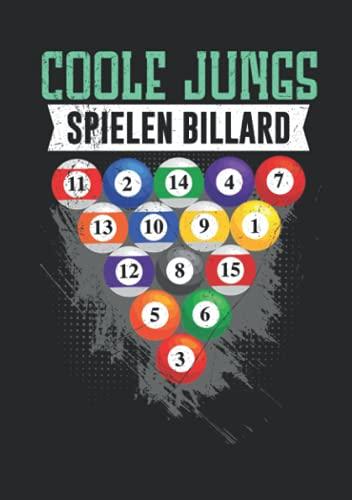 Notizbuch A5 liniert mit Softcover Design: Coole Jungs spielen Billard Queue Billardkugeln Pool Billard: 120 linierte DIN A5 Seiten