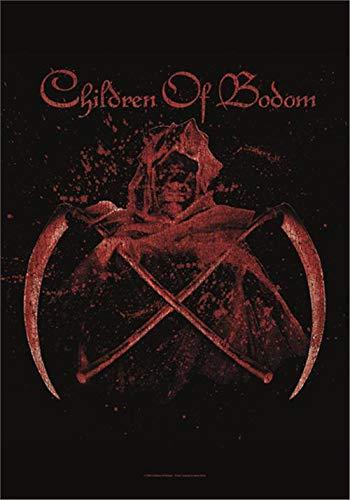Heart Rock Bandiera Originale Children of Bodom Crossed Scythes, Tessuto, Multicolore, 110x75x0.1 cm