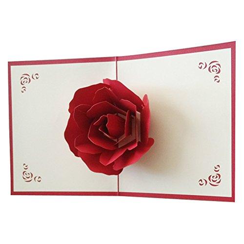 Kofun Grußkarte Umschlag, 3D Pop Up Frohe Weihnachten Grußkarte Geburtstag Neujahr Einladungskarte Papierkarten Handgemachte Handwerk Valentines Halloween Fledermaus