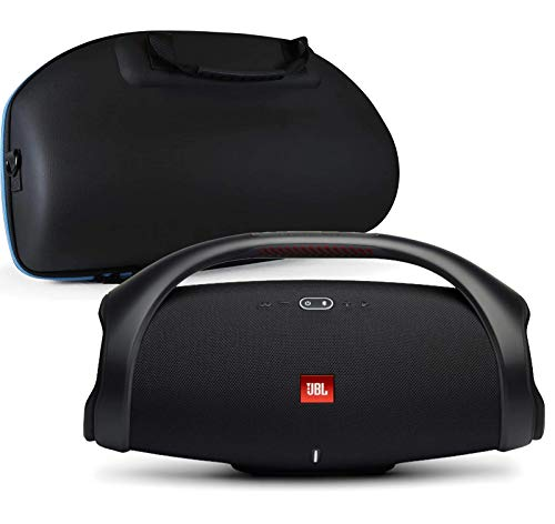 JBL Boombox 2 Waterproof Portable Bluetooth Speaker Bundle with divvi! Boombox 2 Hardshell Case - Black