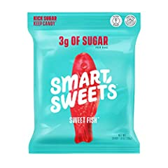 EVEN BETTER THAN IT WAS BEFORE: New delicious recipe - we out candied candy! KICK SUGAR: Feel good about candy with SmartSweets. Just 3g of sugar and 100 calories for the whole bag - that's 92% less sugar than the other fish! Smartly sweetened with h...