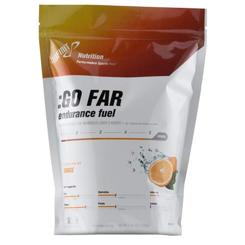 INFINIT Nutrition :Go Far-Hydration Drink Mix with Carbohydrates, Protein,&Electrolytes-All in 1 Mix