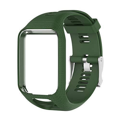 Ueohitsct Correa de reloj de silicona de 25 mm de liberación rápida para reloj de pulsera de silicona, accesorios de repuesto para Tomtom Runner2/Runner3