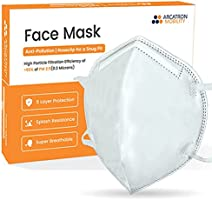 Arcatron 95% Filtration Face Mask - Value Pack - 4 Layers Dust Protection Against PM2.5 Dust, Smoke and Fog-Proof,...