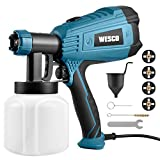 Paint Sprayer, WESCO 500W Electric Spray Gun with 3 Nozzles(1.5/1.8/2.0mm), 800ml/min Max Air