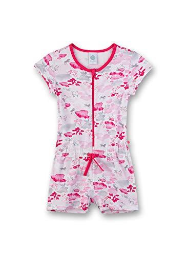 Sanetta Mädchen Overall kurz Einteiliger Schlafanzug, Beige (beige 1427), (Herstellergröße:128)