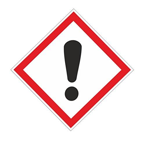Anro Warn-Schild Sicherheits-Schild Hinweis-Schild Achtung Gefahr Gefahrenstelle aus PVC 10x10 cm, Weiß